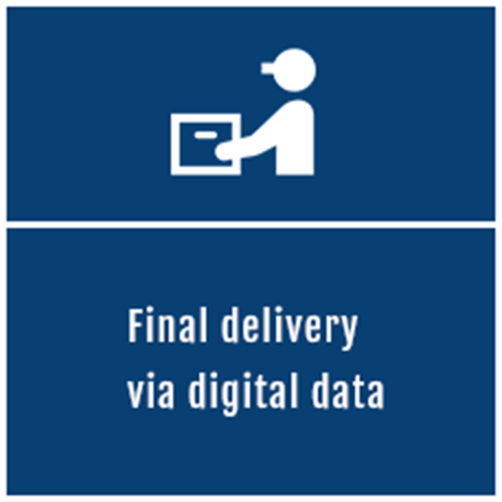 Final delivery via digital data